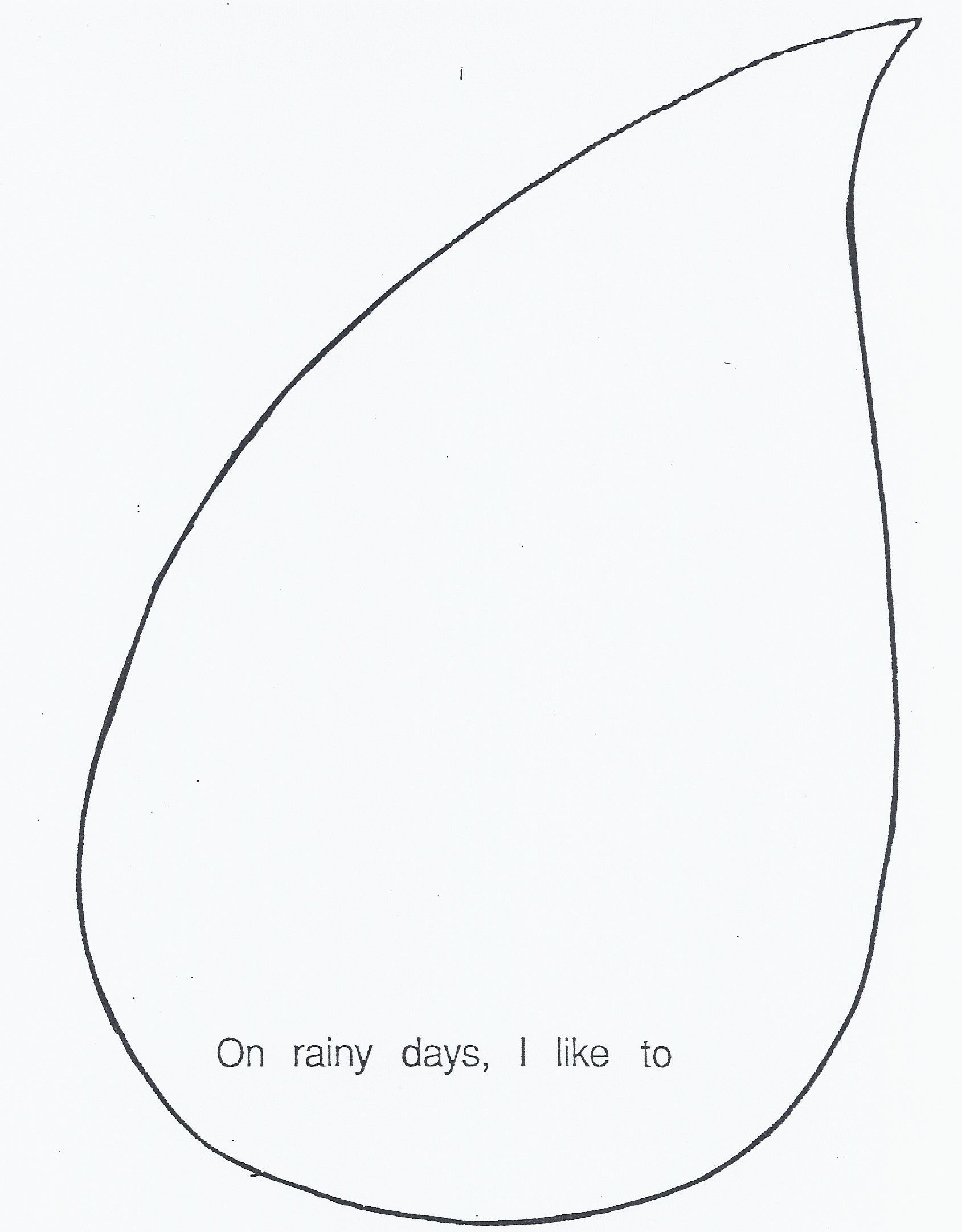 Printable Raindrop Template