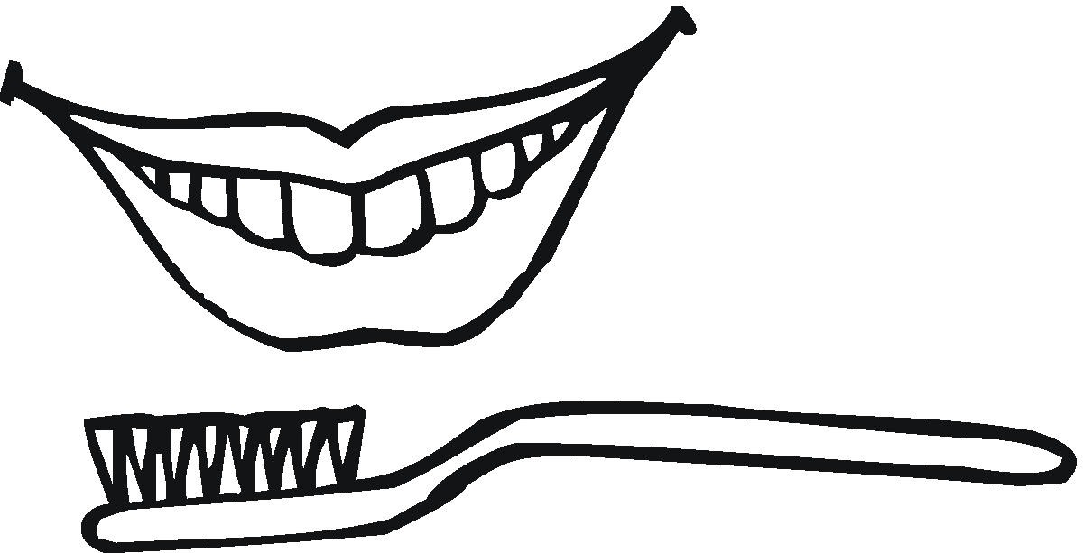 toothbrush colouring pages page 2
