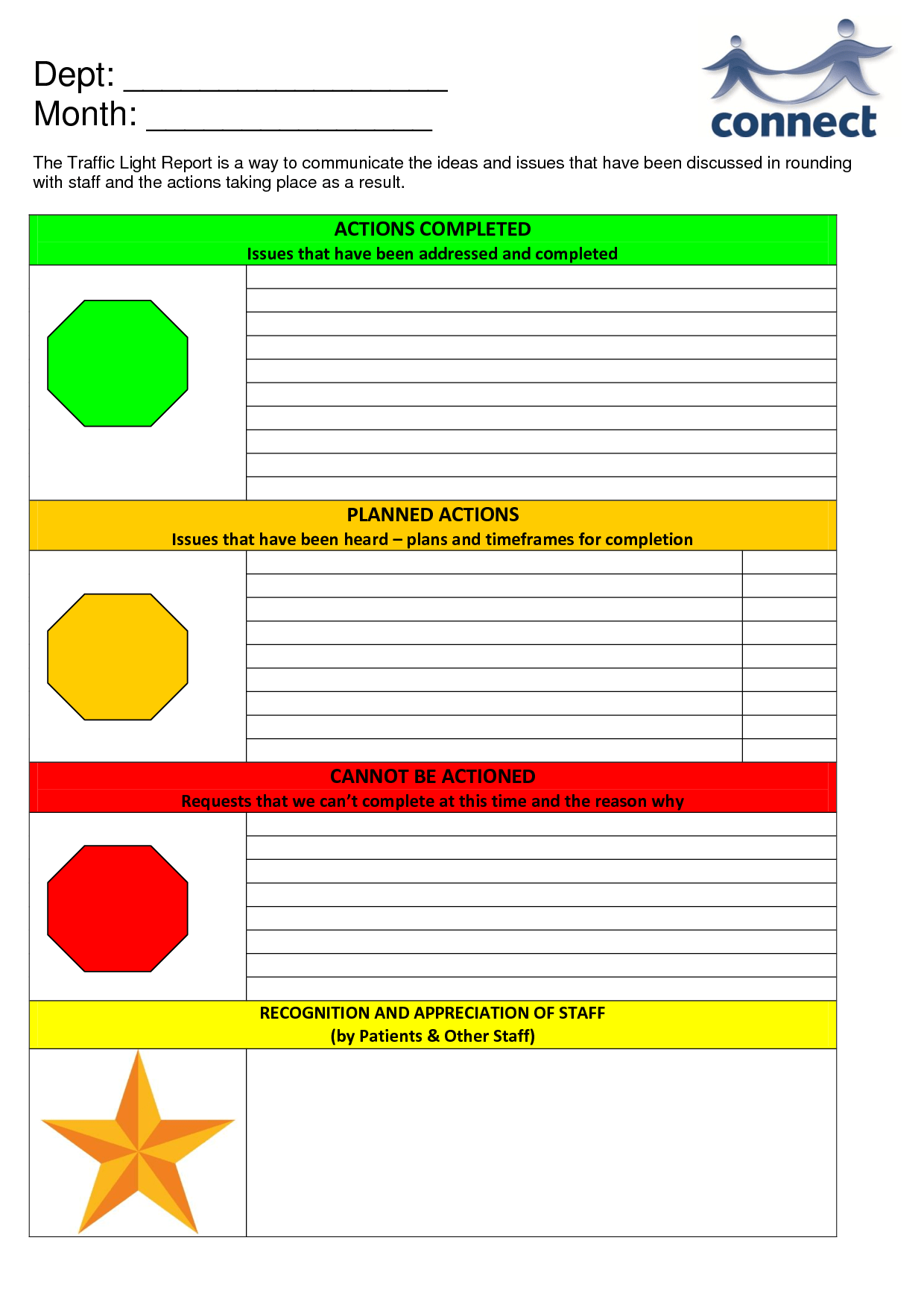 Traffic Light Template