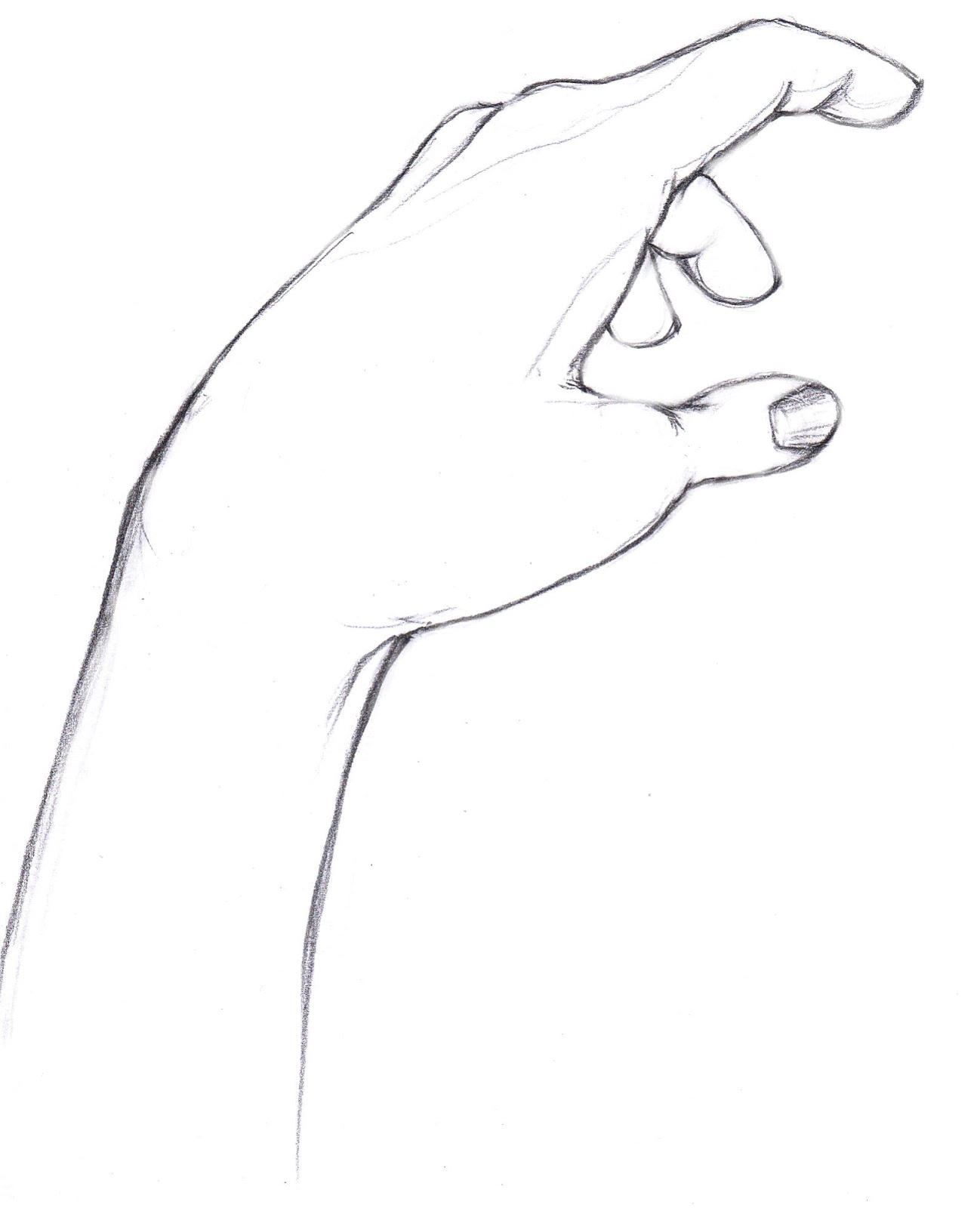 Hand Line Art