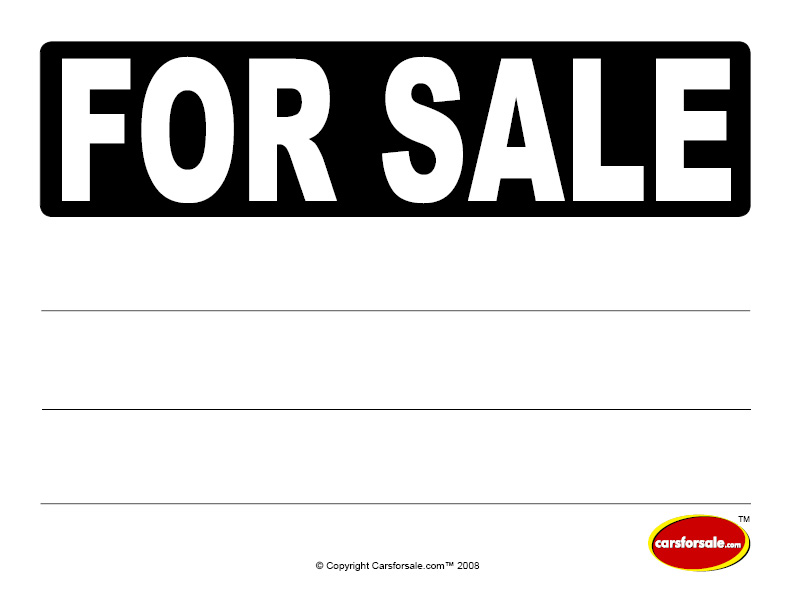 Sale Sign Template clearance sales signs esigns sale template – Car for Sale Template