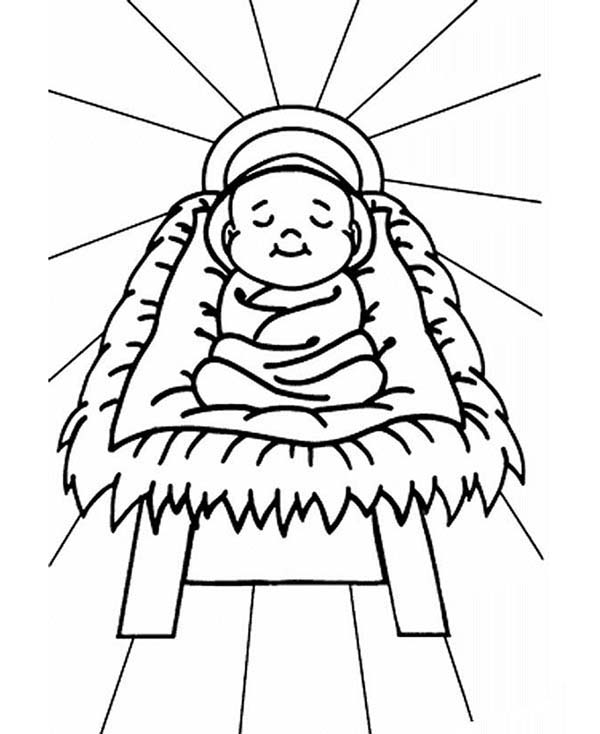 Baby Jesus In Manger Coloring Page. baby jesus coloring page super ...