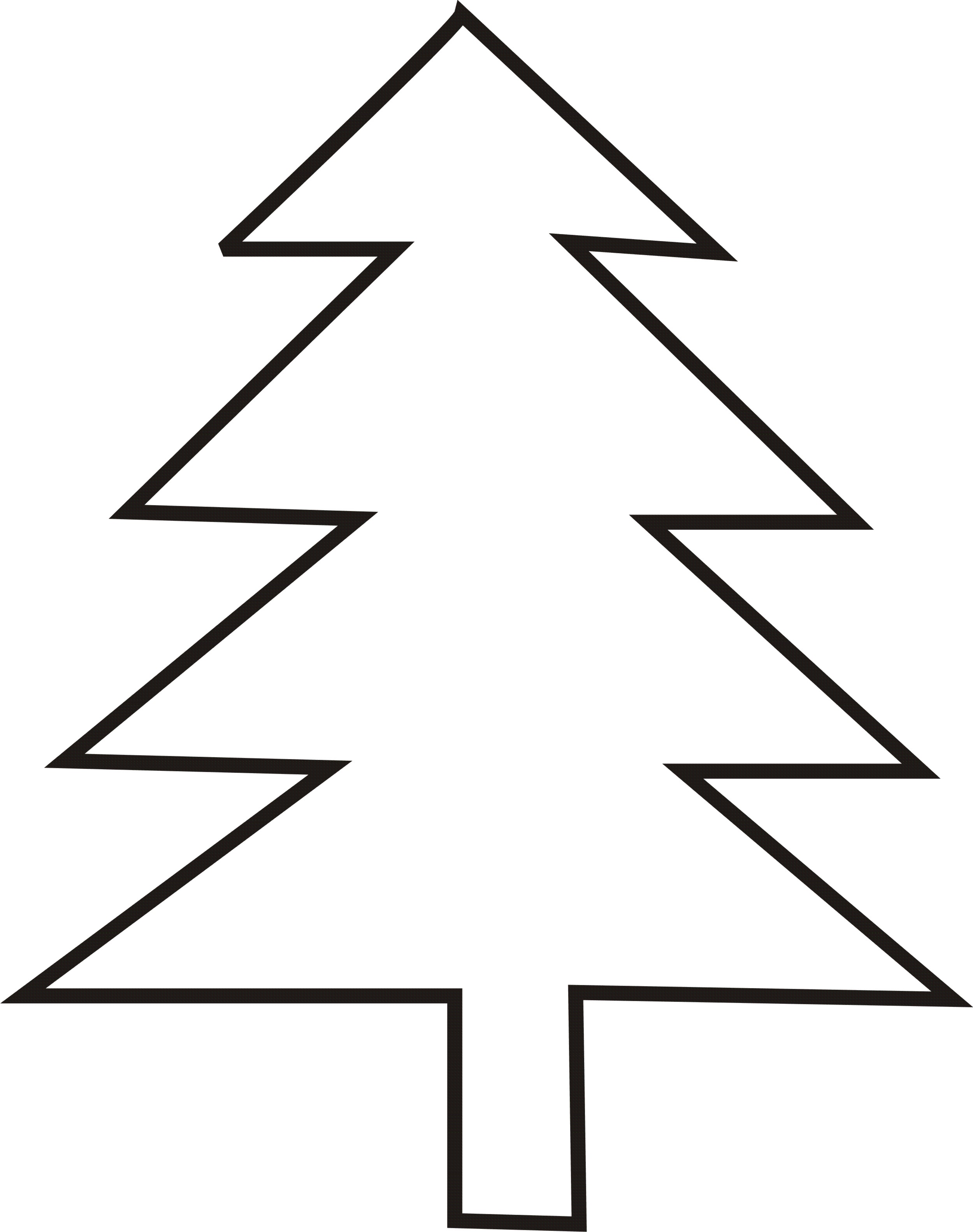 Christmas Tree Outlines
