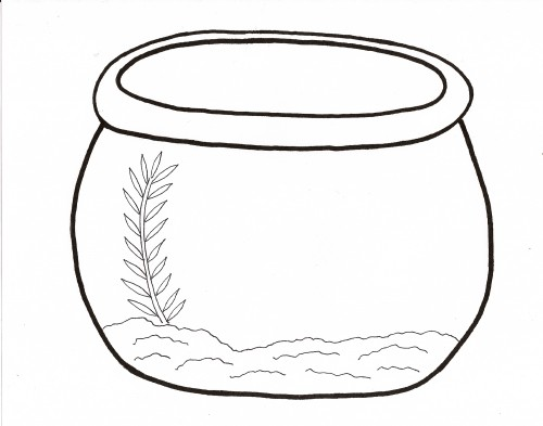printable fish bowl coloring pages fun printable