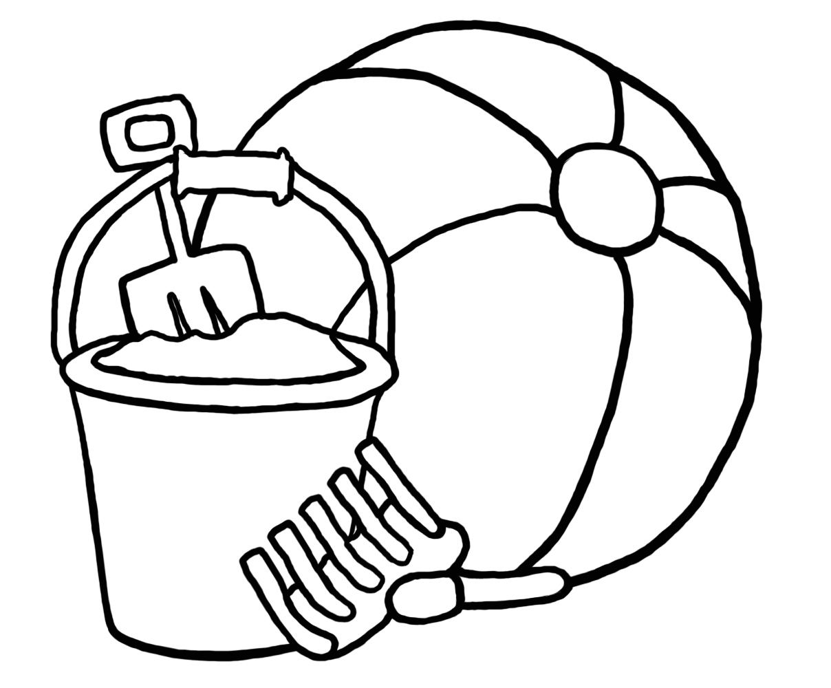 beach ball coloring pages cliparts co