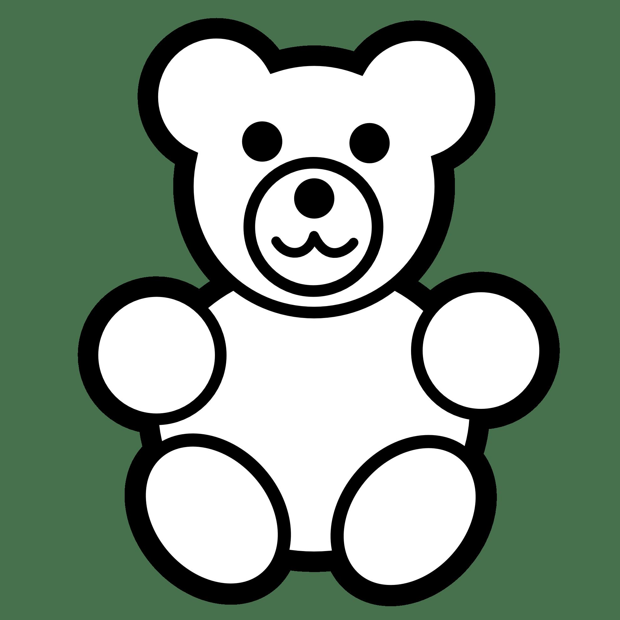 Bear Clip Art Black And White