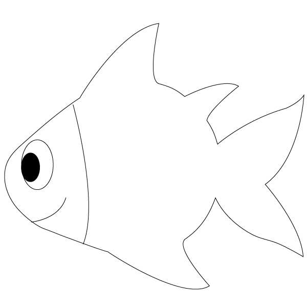 outline drawing of fish pix for gt simple fish drawing