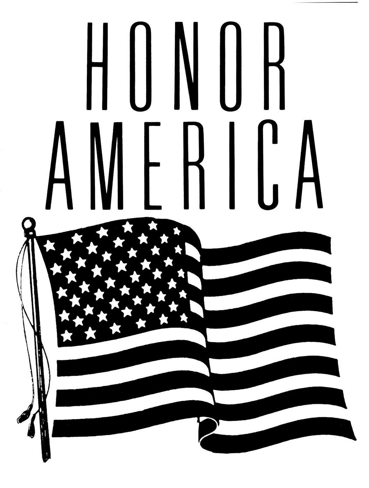 American Flag Clip