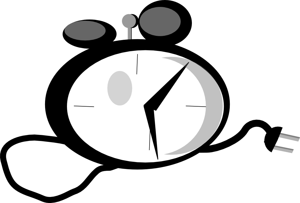 feraliminal alarm clock black white line art coloring book
