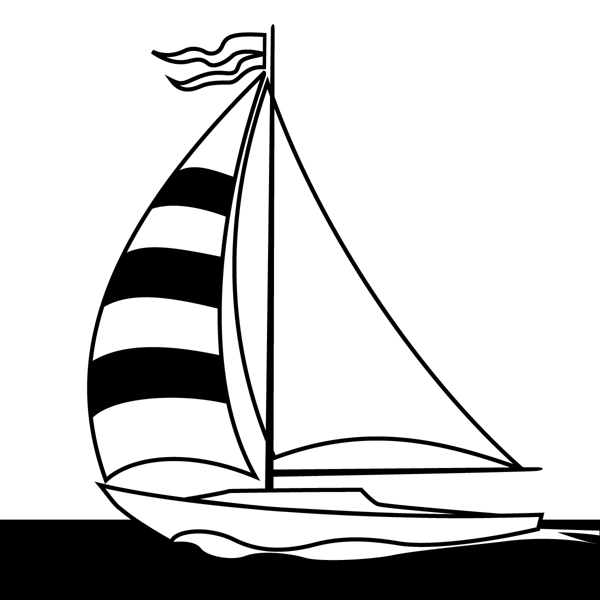 Sailboat Graphic