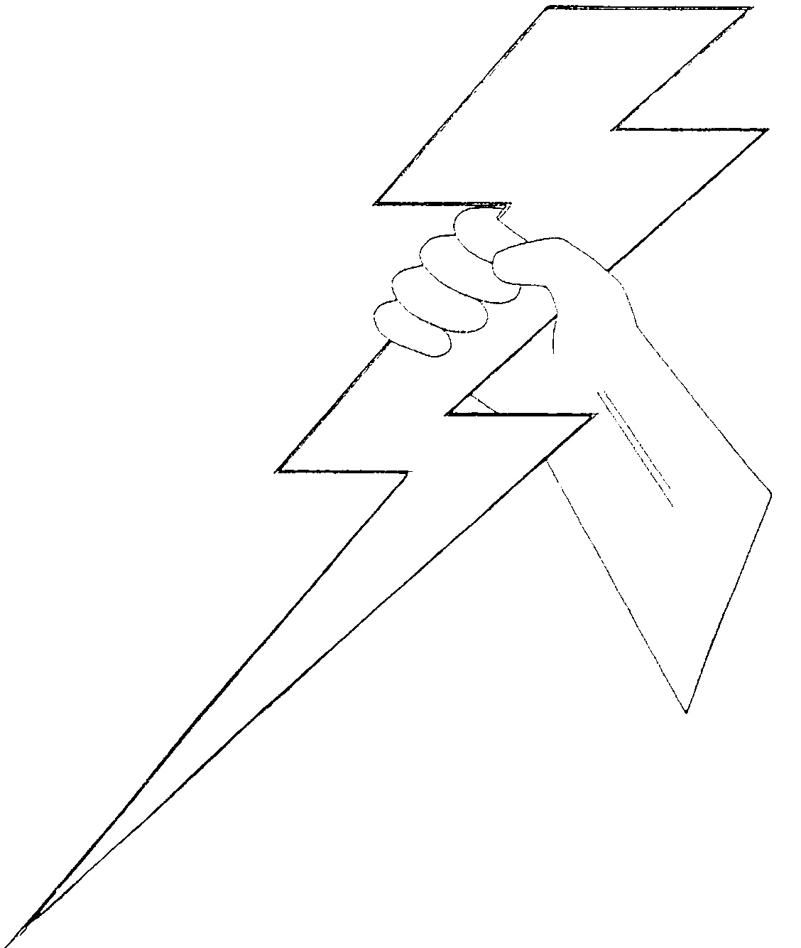 Printable Lightning Bolt