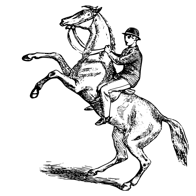 Rearing Horse Clipart