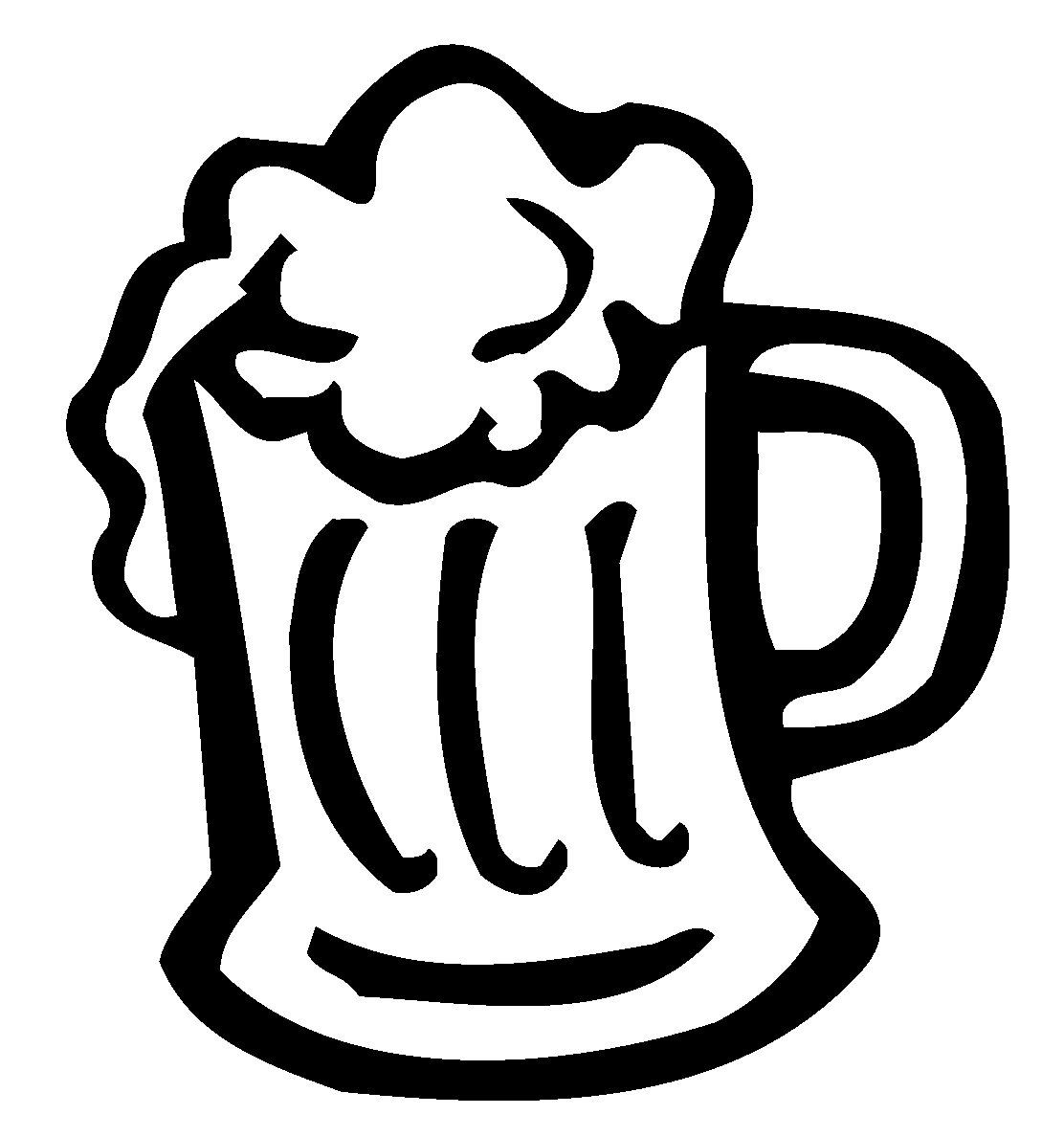 Cartoon Beer Mug