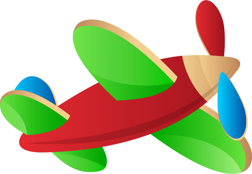 Toy Airplane Clipart