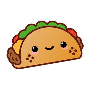 Kawaii Taco clipart, cliparts of Kawaii Taco free download ... (300 x 300 Pixel)