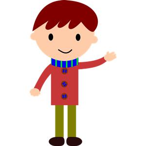boy waving hand clipart, cliparts of boy waving hand free ... (300 x 300 Pixel)