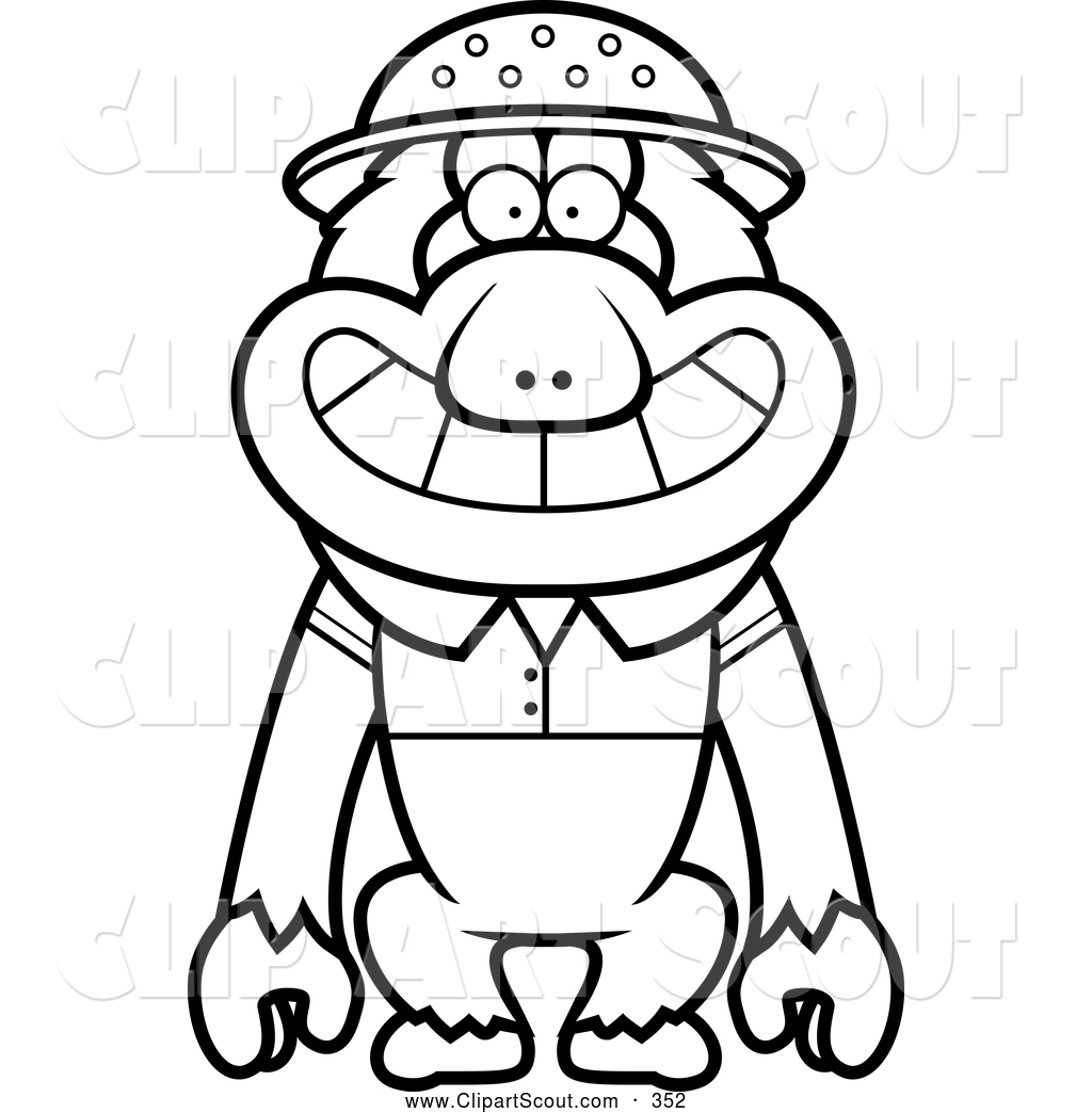 clipart of monkey