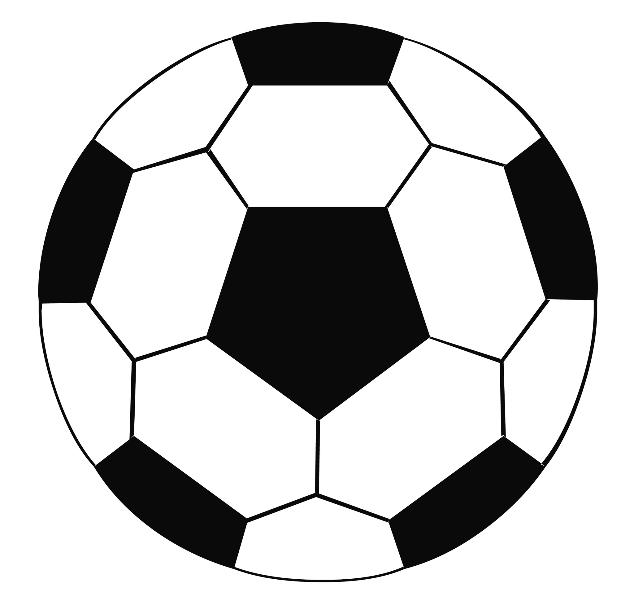 Soccer ball football ball images clipart image #472 (2048 x 1982 Pixel)