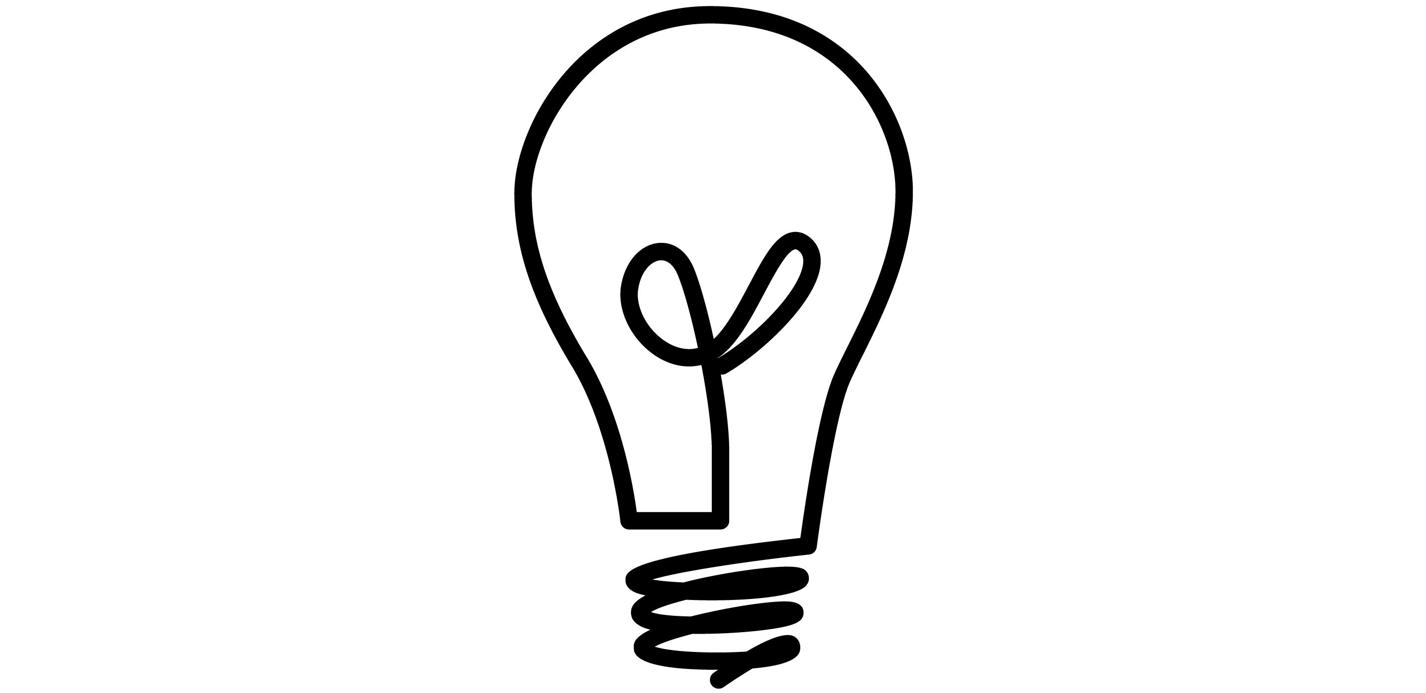 Light Bulb Idea Clipart With Glossy Orange Light Bulb Psd