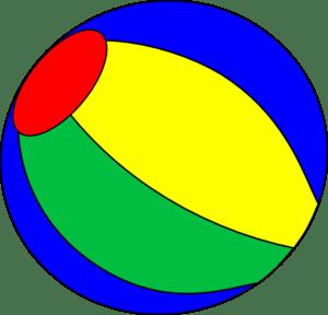Free beach ball clip art image #4351 (300 x 288 Pixel)