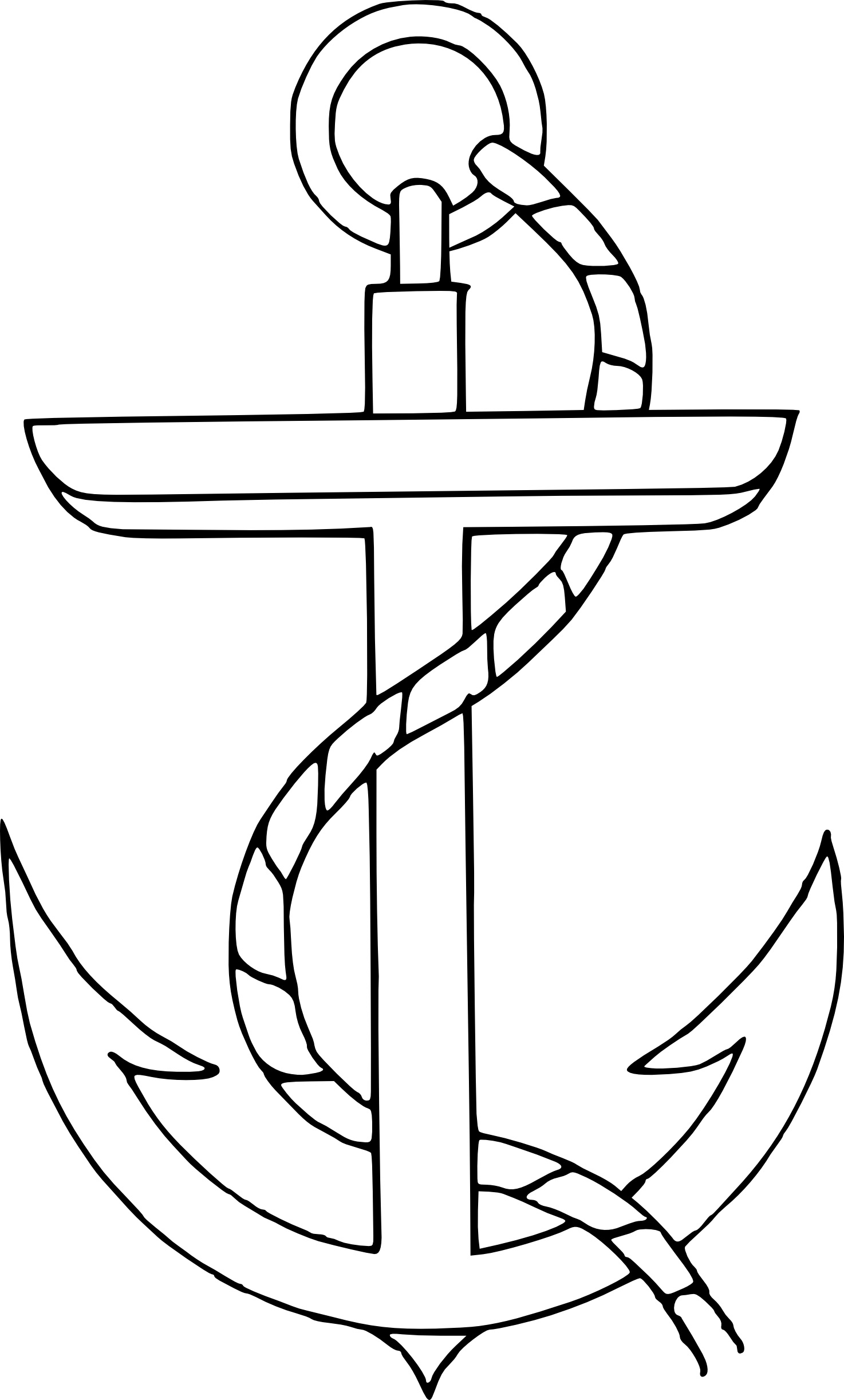 Simple Anchor Clip Art Free Vector In Open Office Drawing