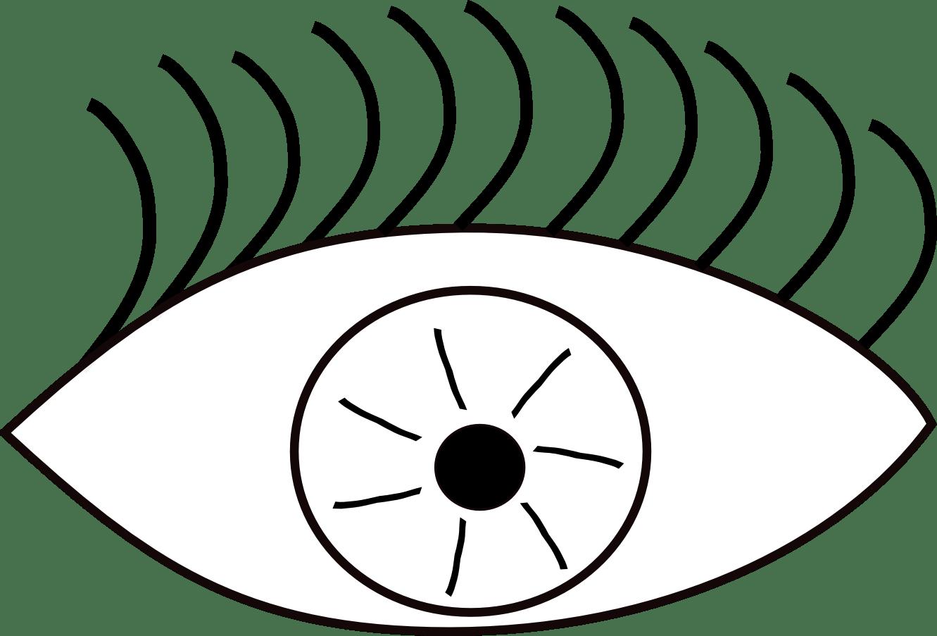 Eyeball Eye Clip Art Black And White Image