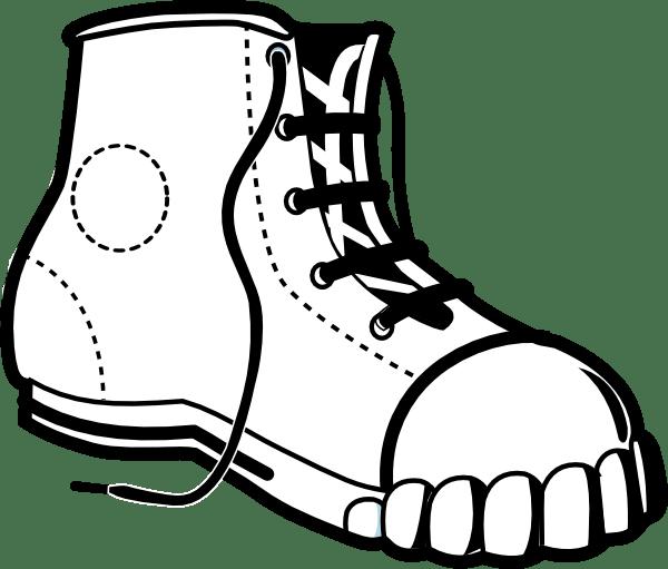 Track Shoe Running Shoe Vector Art My Shoes Clip Art Image
