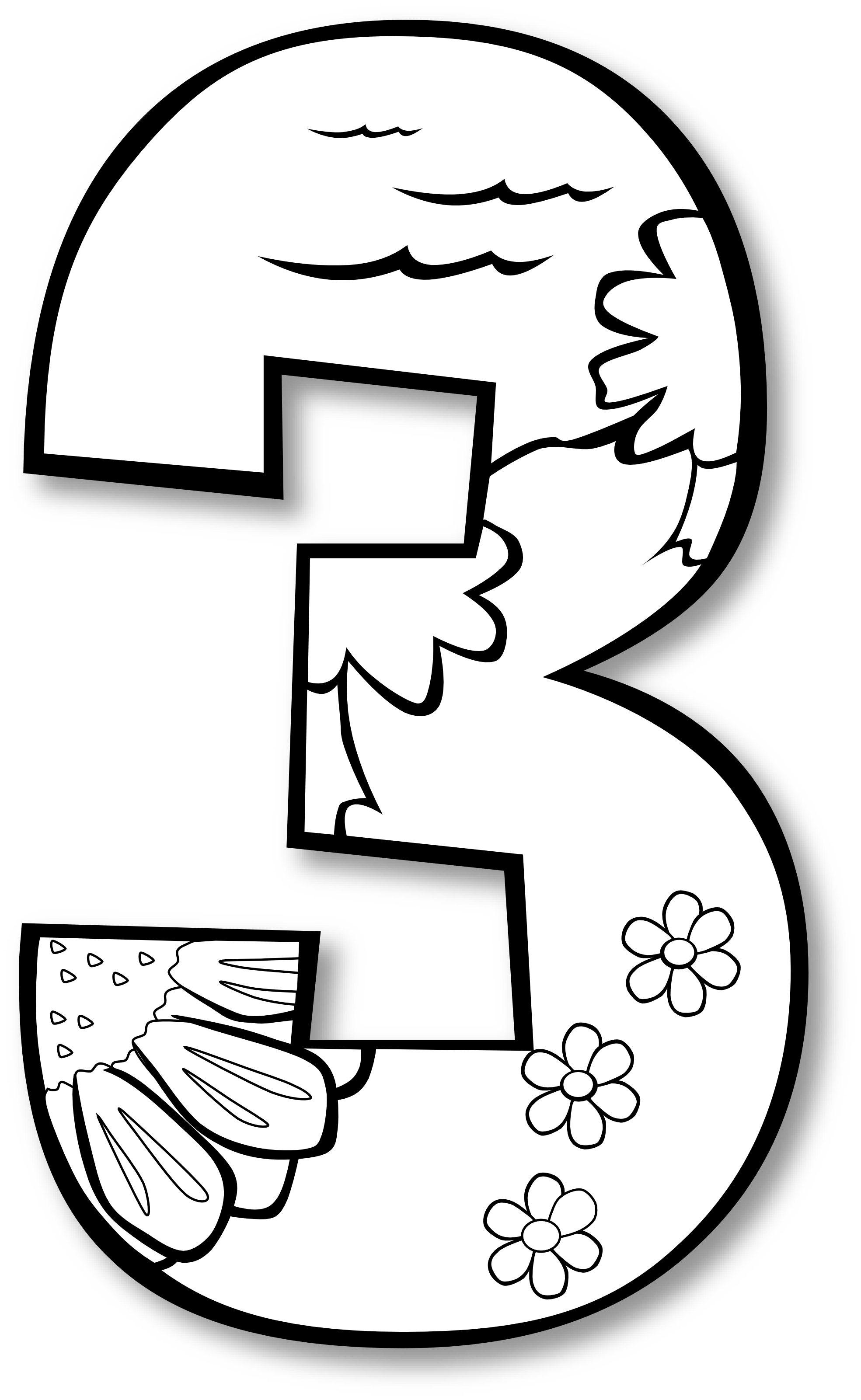Black And White Numbers 1 Clipart Clipart Kid Image