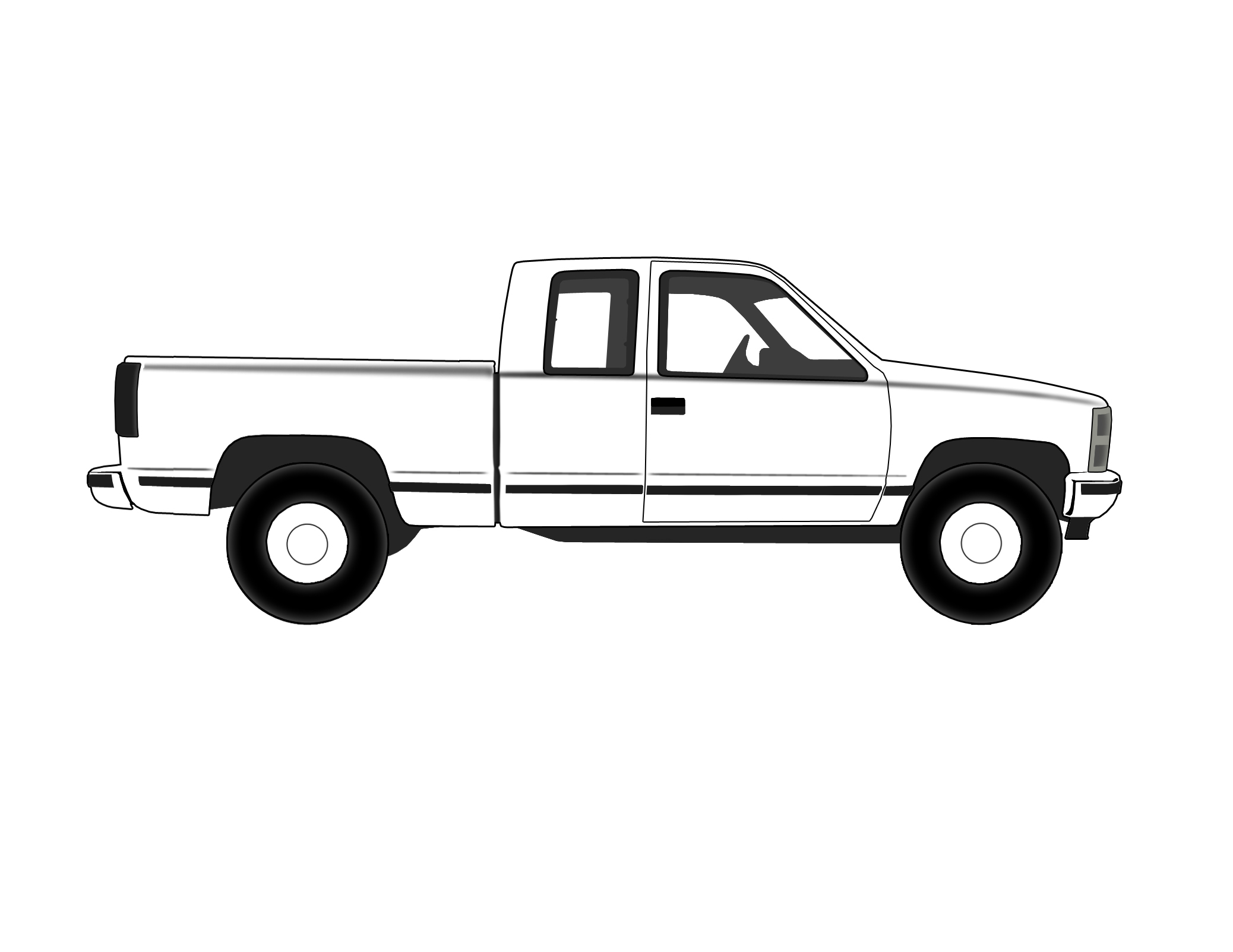 Pickup Truck Pick Up Truck Black And White Clipart Clipart