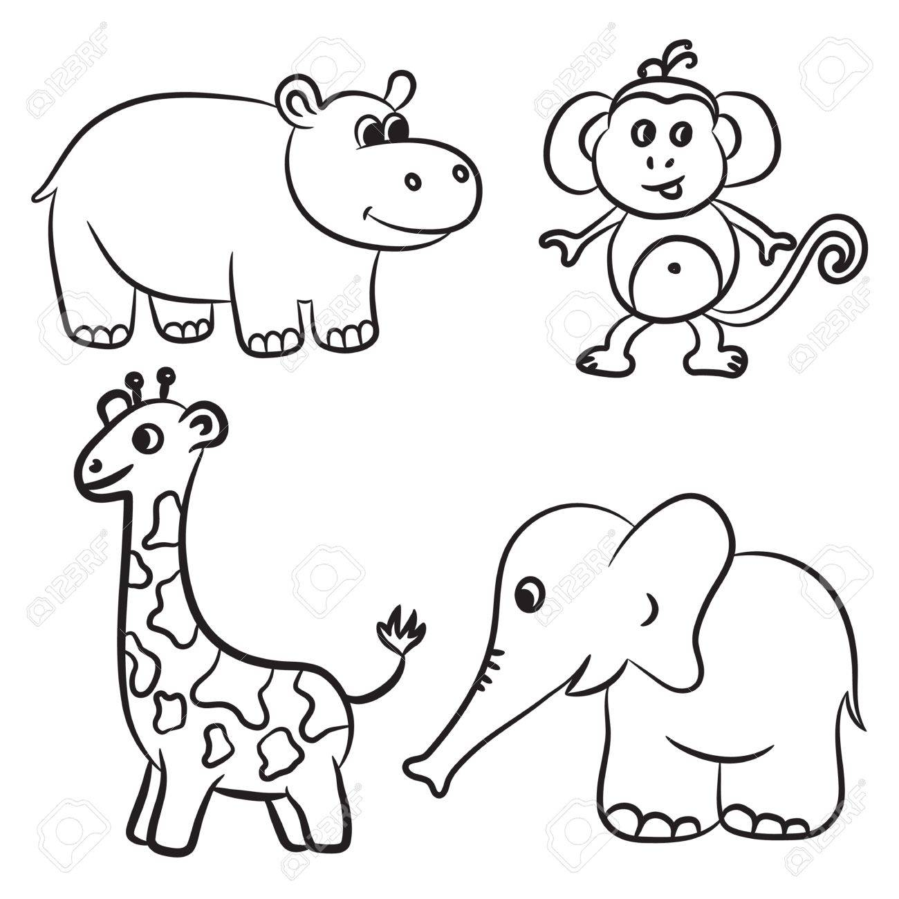 Animals Black And White Clipart Zoo Pictures On Cliparts