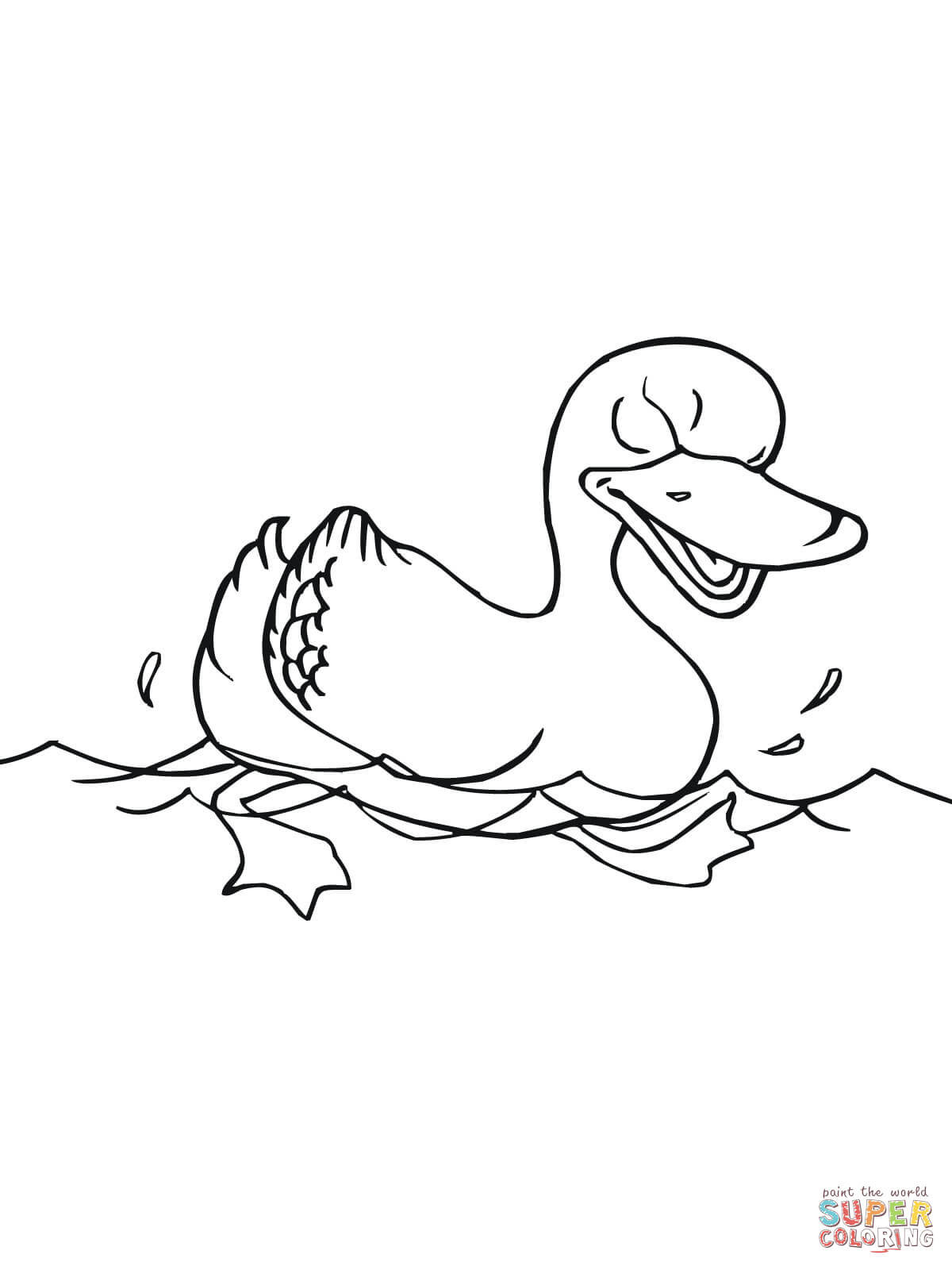 Duck Clipart Black And White Swimming Pictures On Cliparts