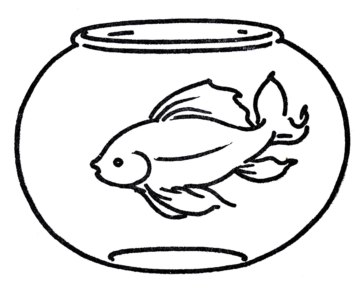 Fish Clipart Outline Goldfish Pictures On Cliparts Pub