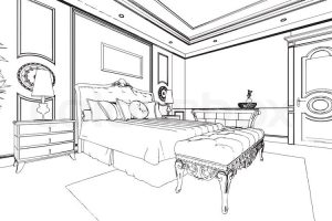 Bedroom Clipart Black And White 8