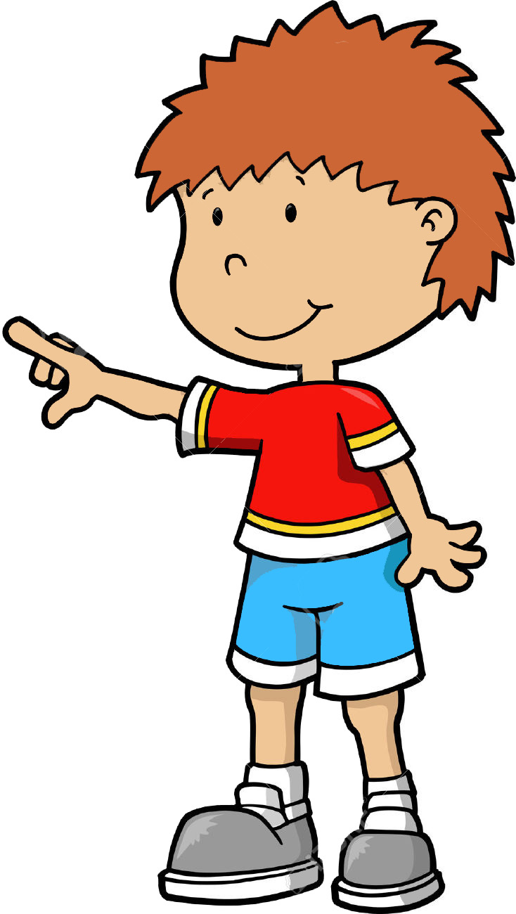 Boy Pointing Clipart