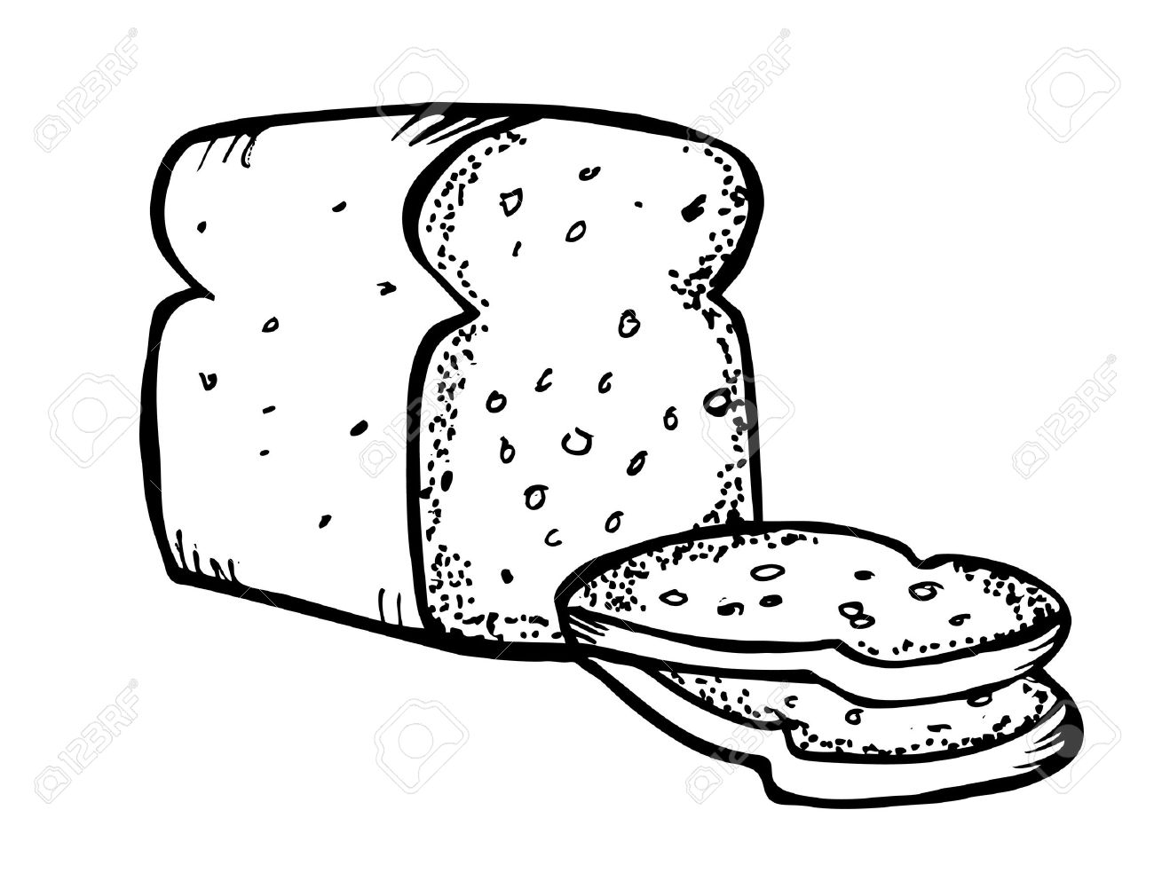 Bread Clipart Black And White 4 Clipart Station
