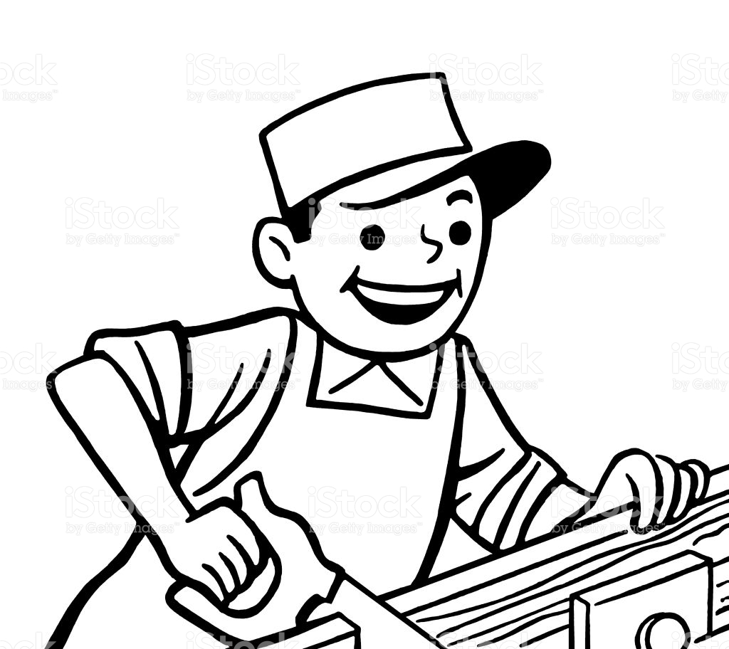 Carpenter Clipart Black And White 5 Clipart Station