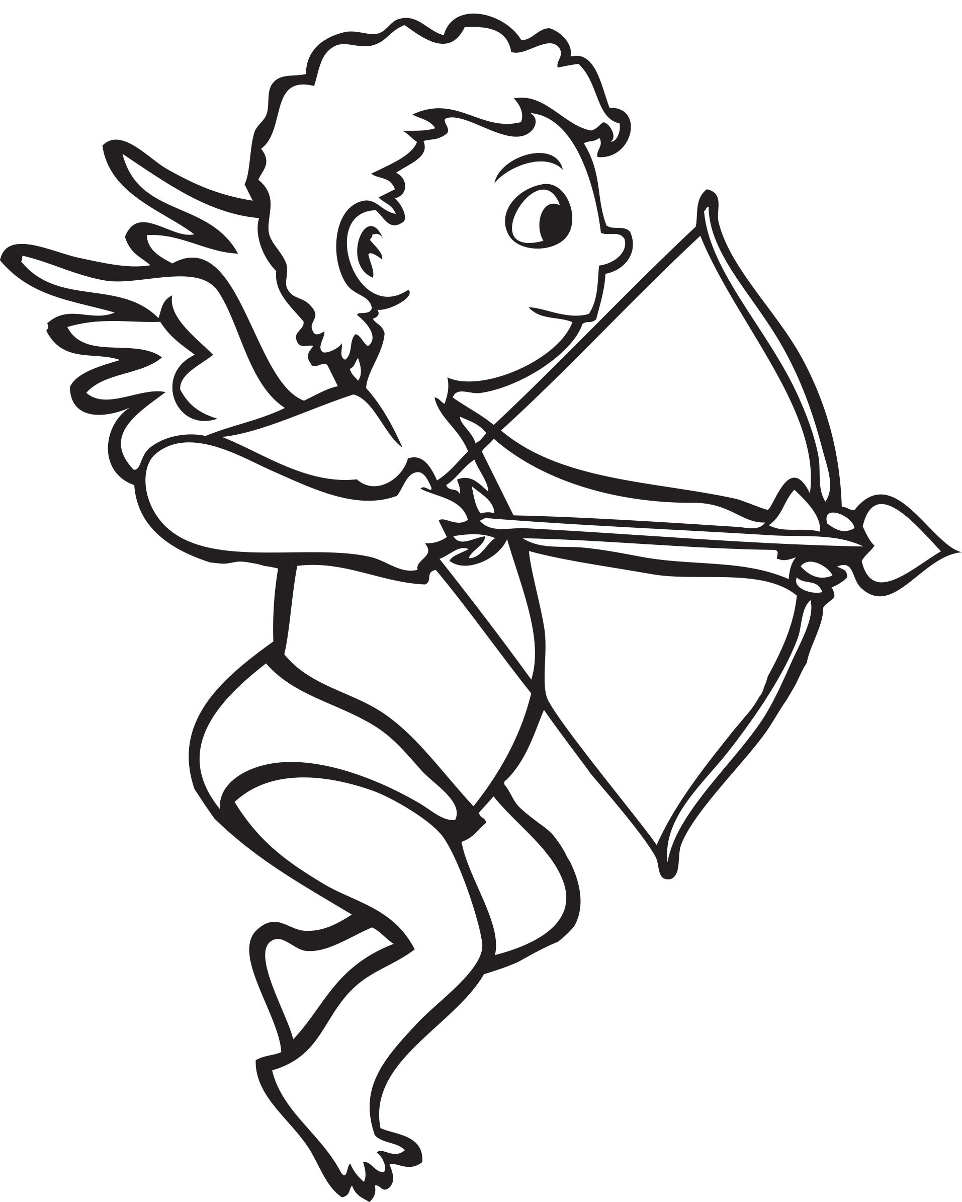 Cupid Clipart Black And White 5 Clipart Station