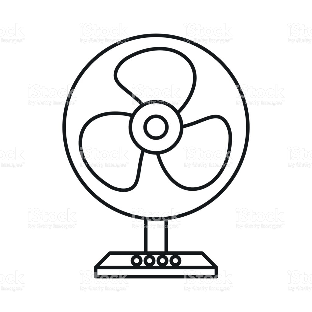 Electric Fan Clipart Black And White 3 Clipart Station