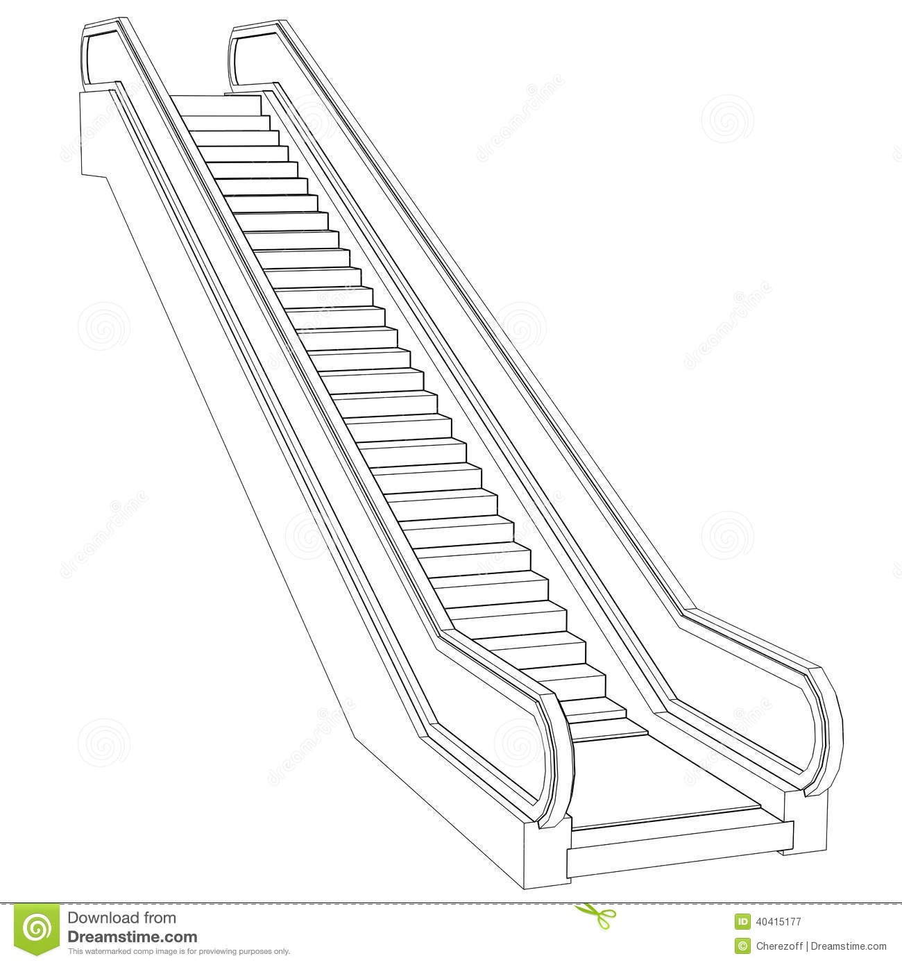 Escalator Clipart Black And White 9 Clipart Station
