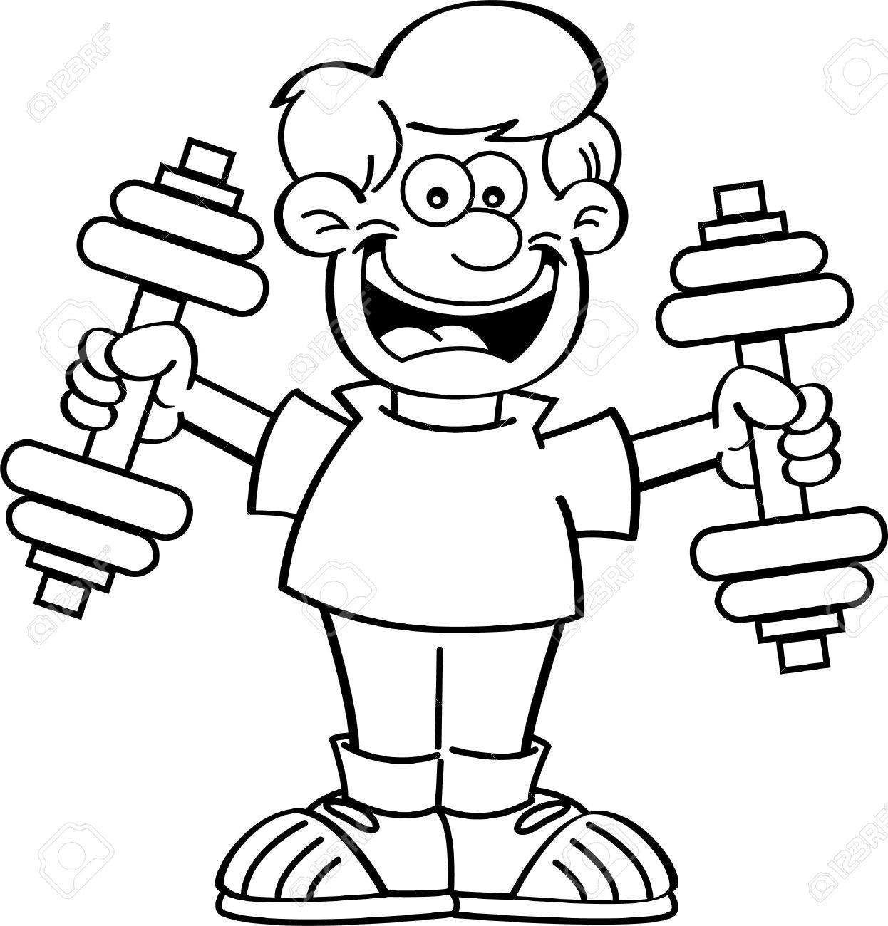 Exercise Clipart Black And White 4 Clipart Station