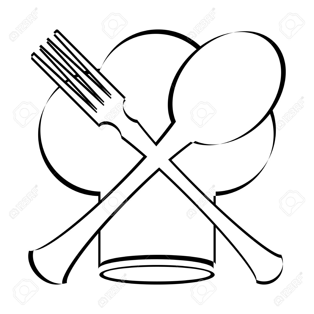 Chef Hat With Spoon Fork And Knife Clipart Station