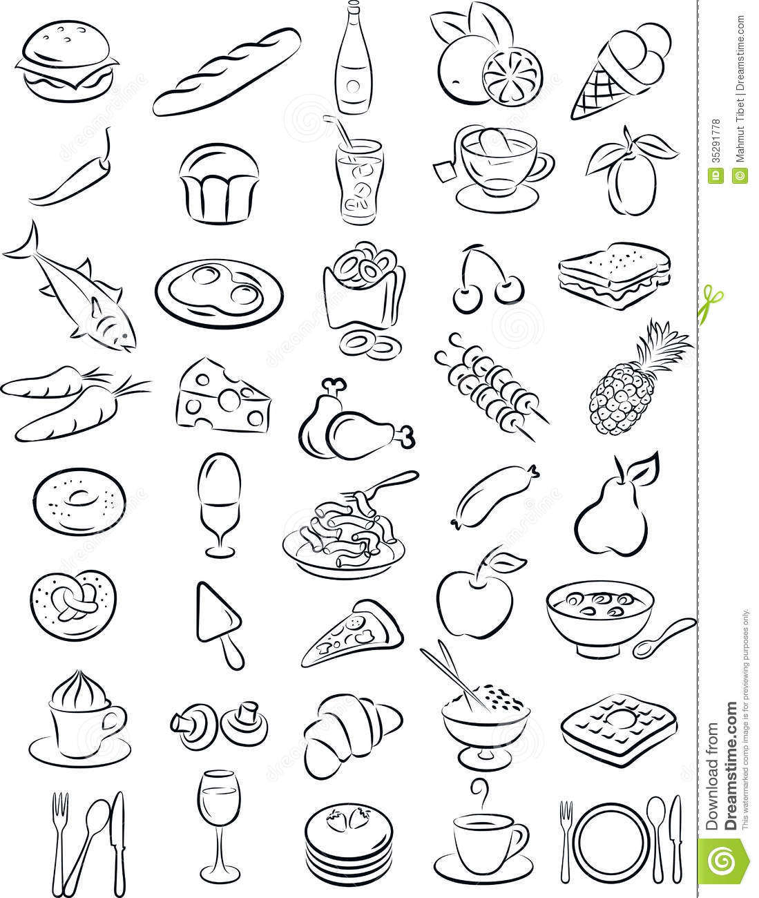 Healthy Food Clipart Black And White 1 Clipart Station