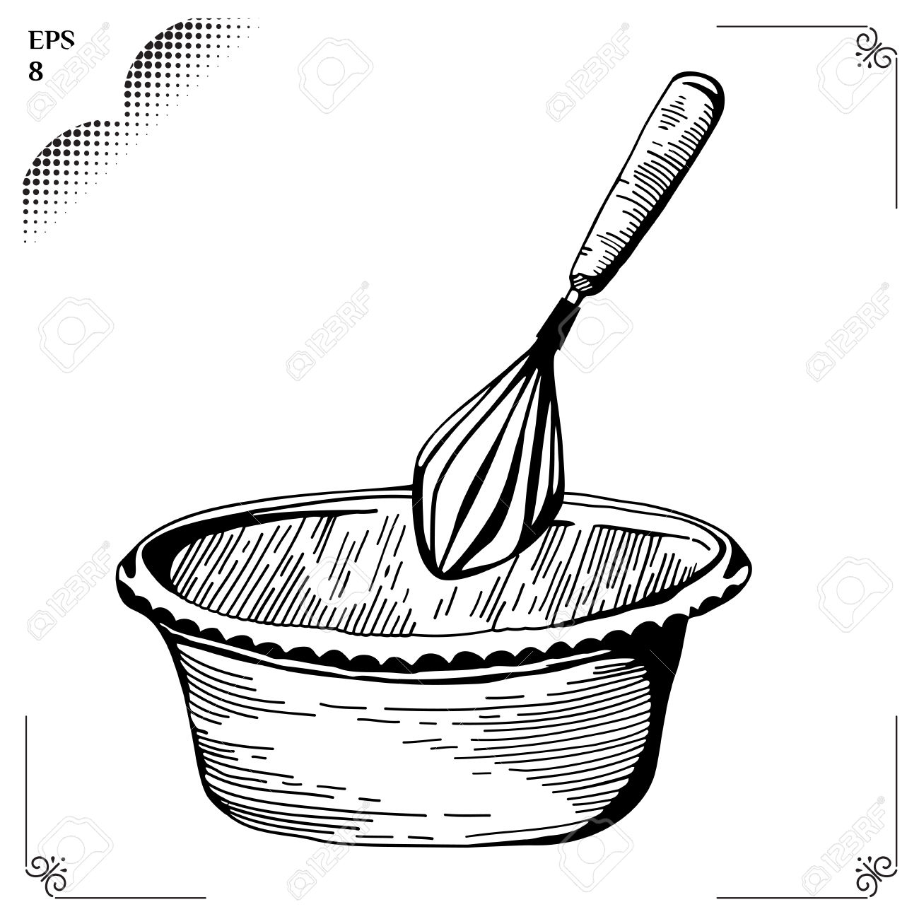 Whisk Culinary Whipped Methods Clipart Station