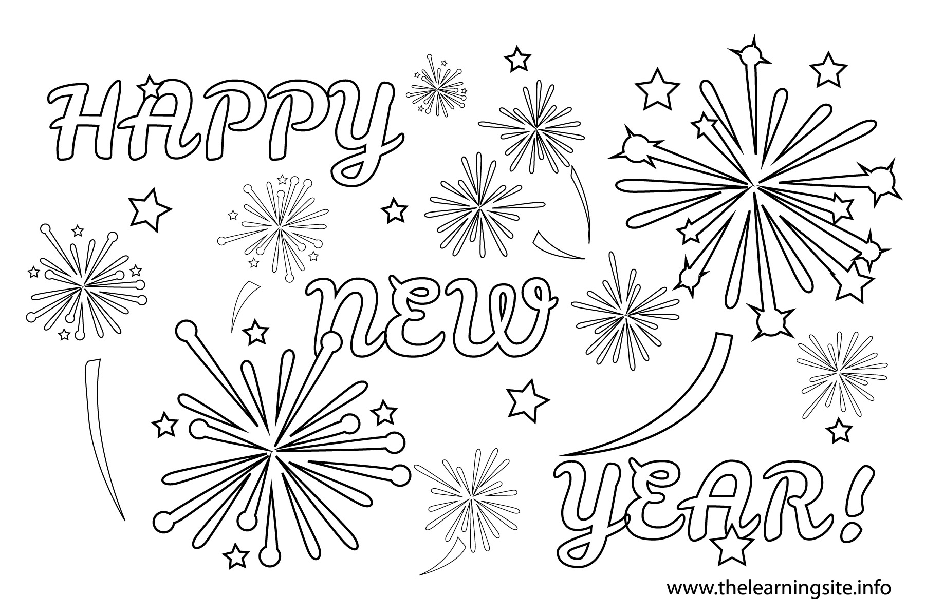 New Years Fireworks Clipart Black And White 3 Clipart