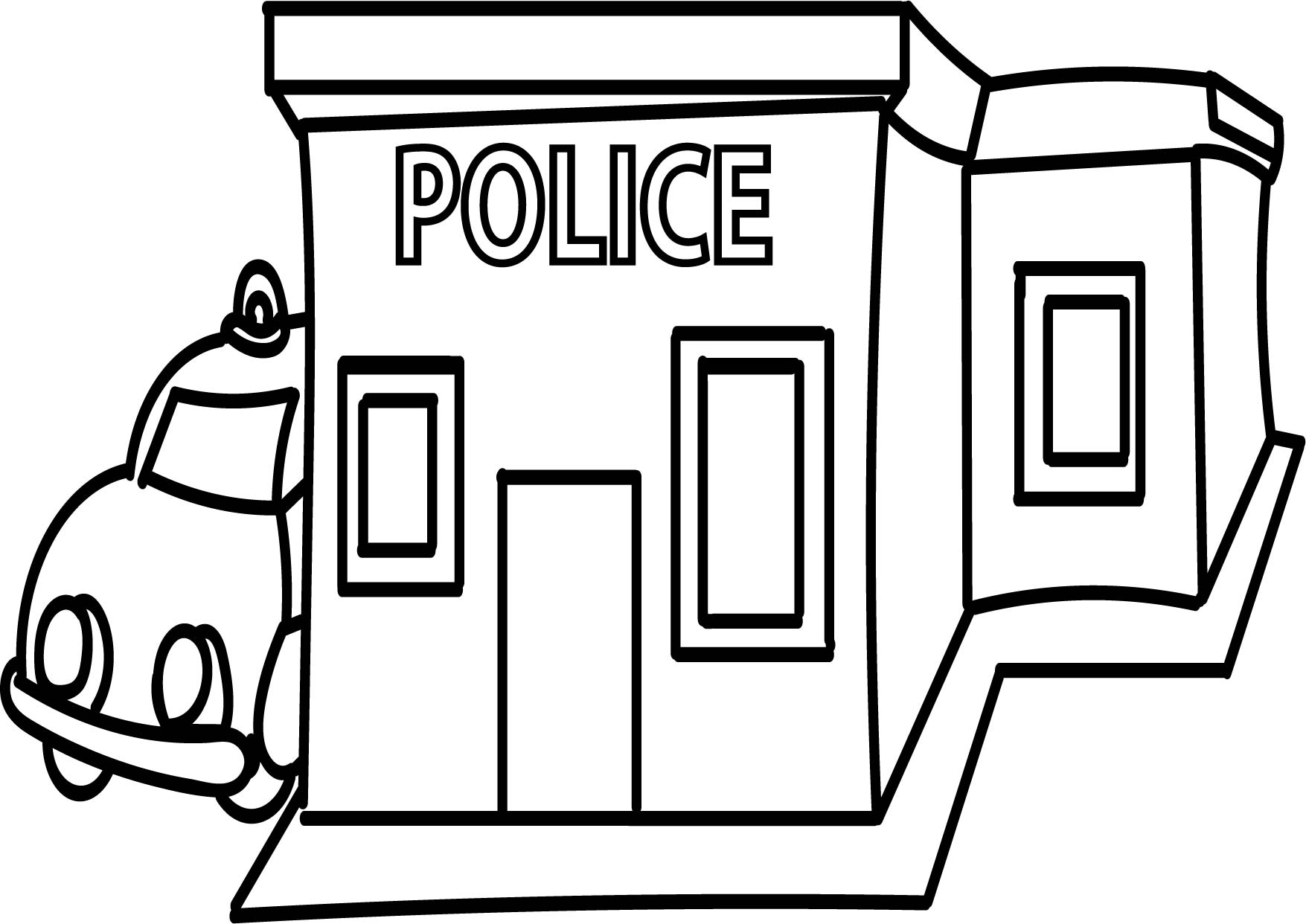 Police Station Clipart Black And White 9 Clipart Station