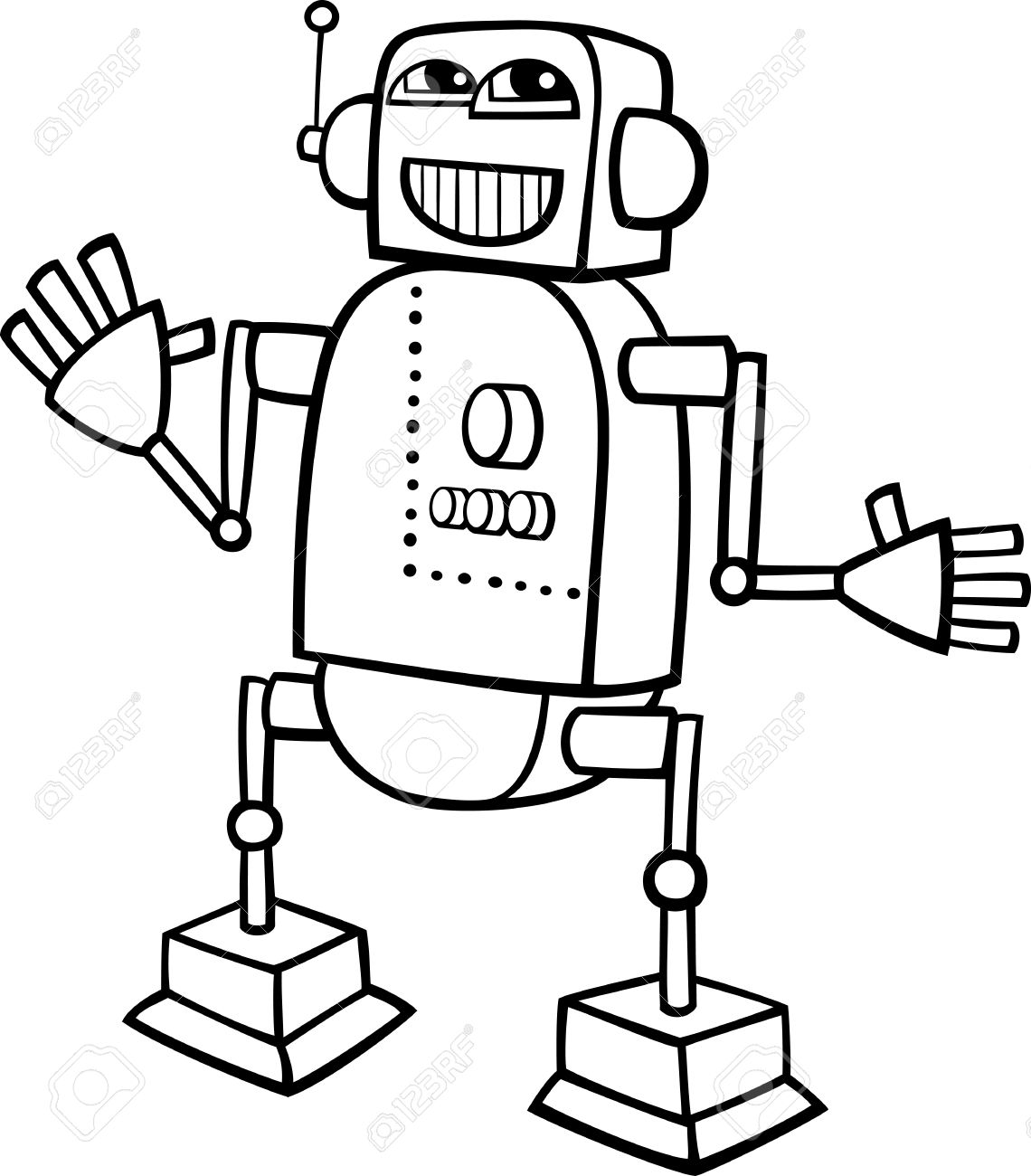 Robot Clipart Black And White 1 Clipart Station