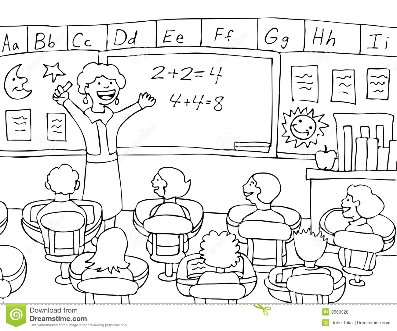 School Classroom Clipart Black And White 9 Clipart Station