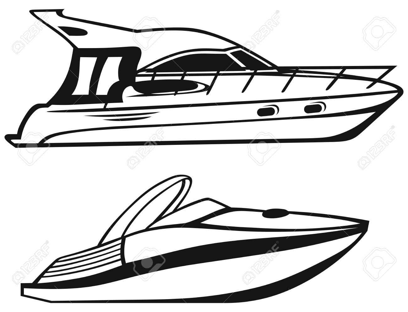Speed Boat Clipart Black And White 4 Clipart Station