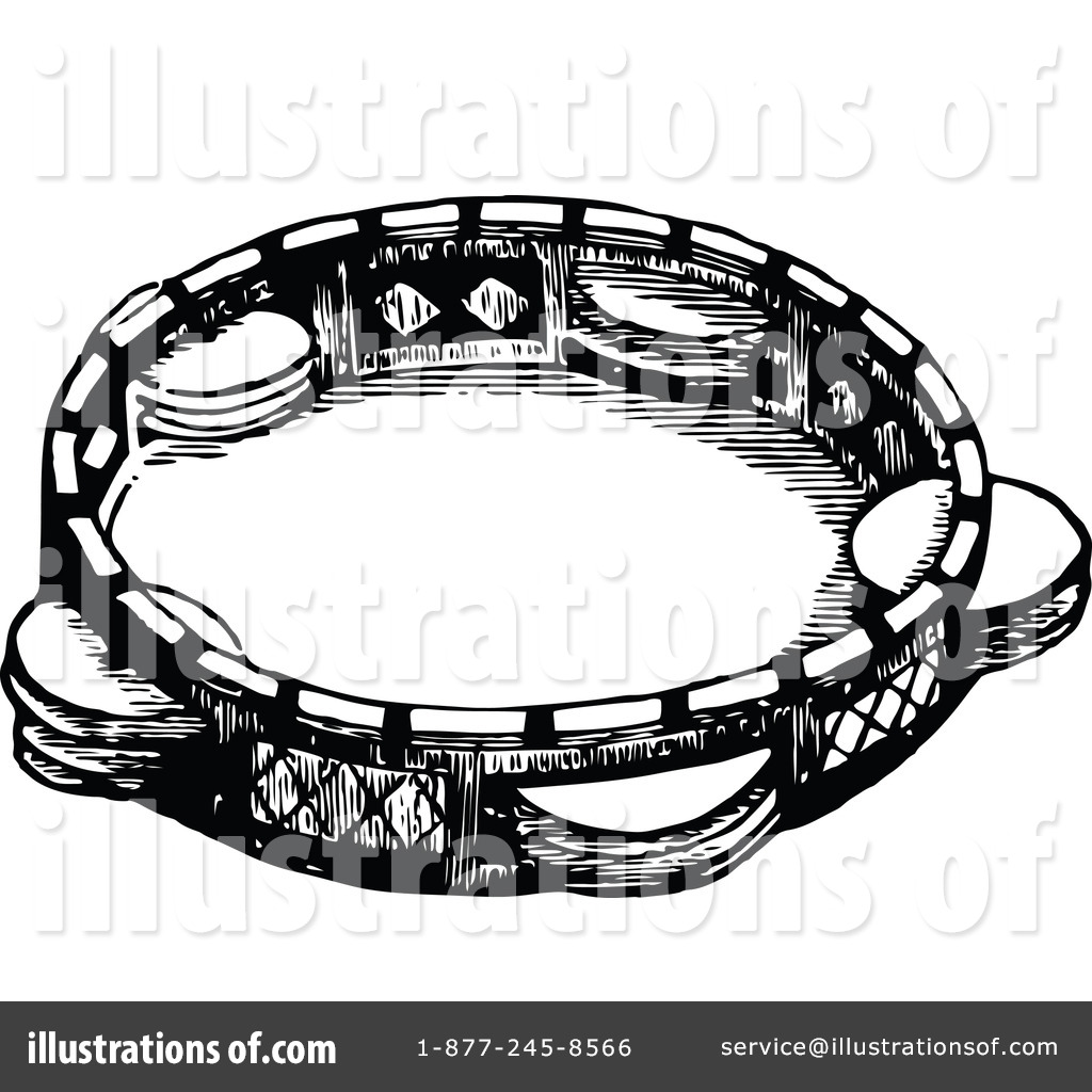 Tambourine Clipart Black And White 6 Clipart Station