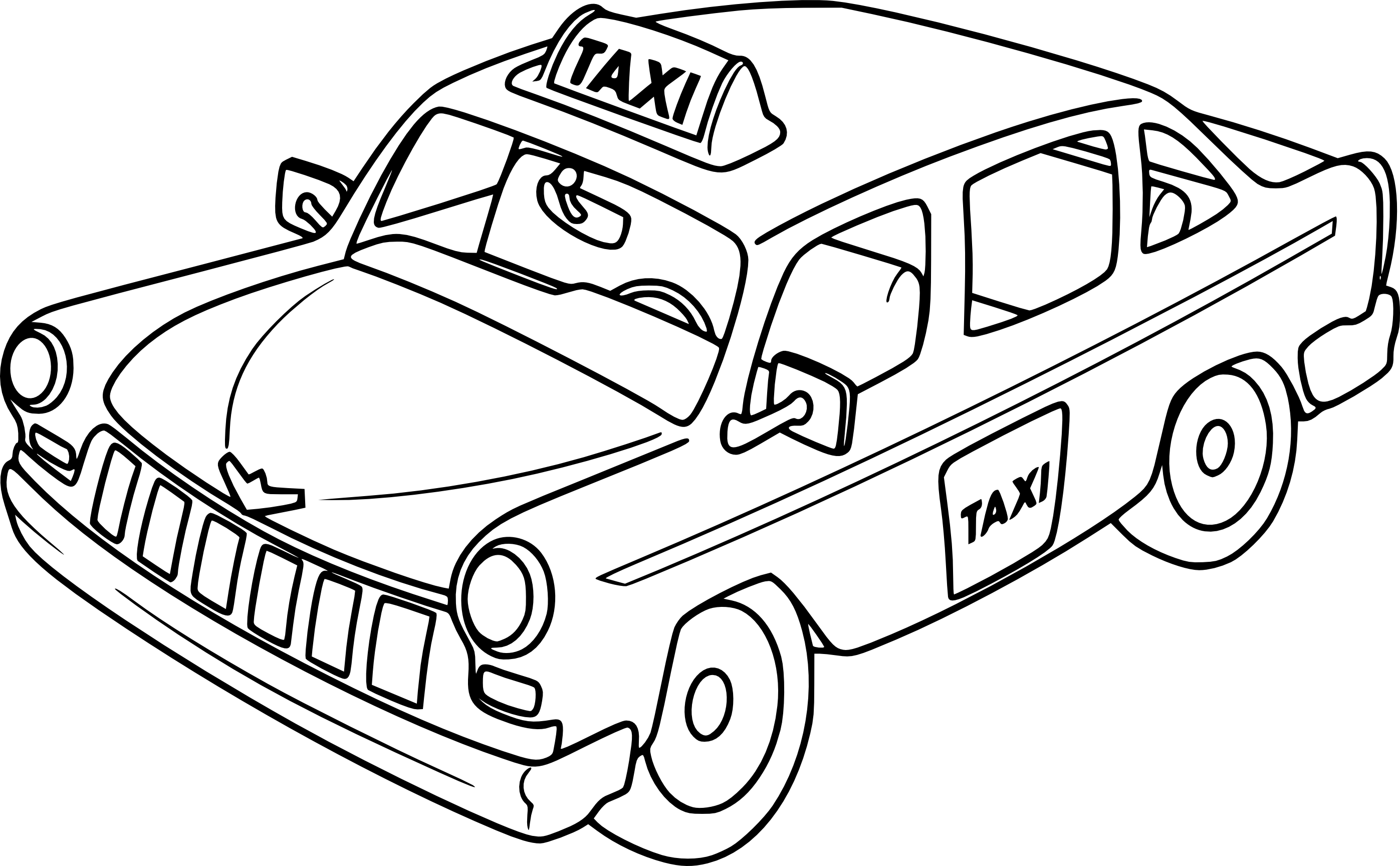 Taxi Clipart Black And White 10 Clipart Station